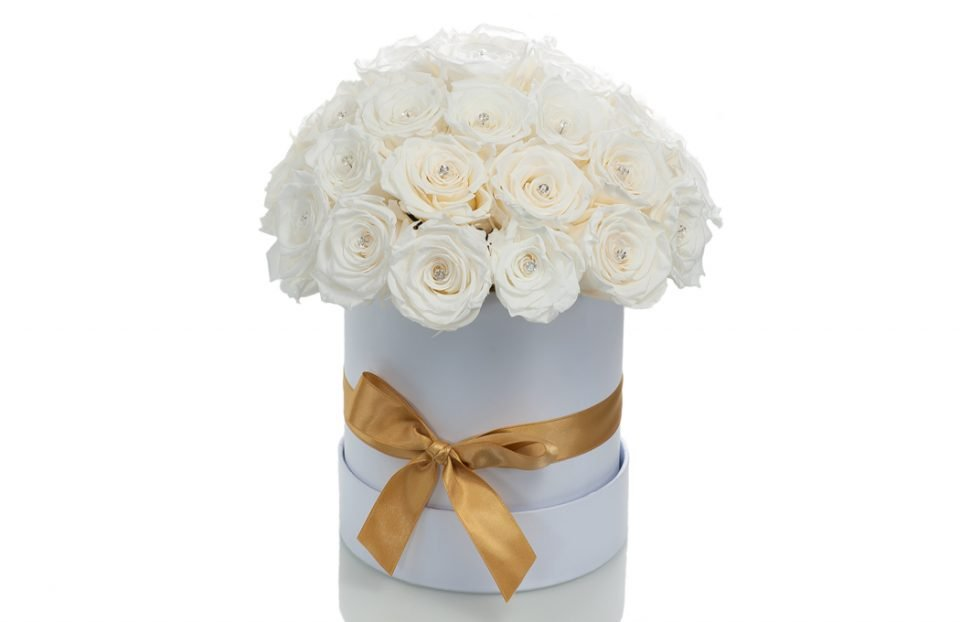 White Infinity-Roses-in-a-Big-Hat-Box.