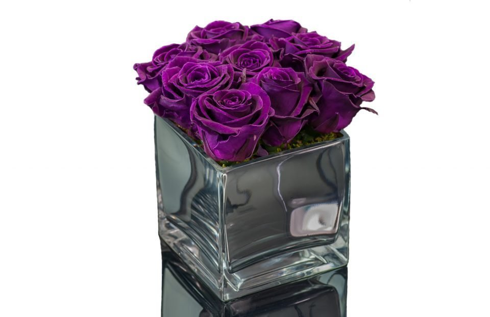 Preserved-Purple-Roses-in-a-Vase