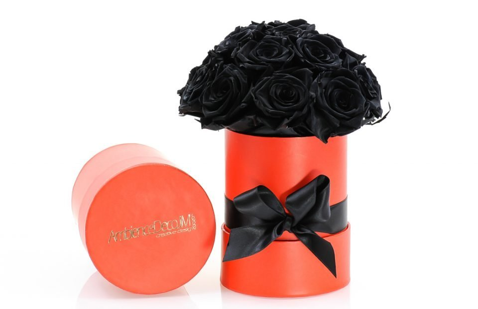 Black-Forever-Roses-Hat-Box