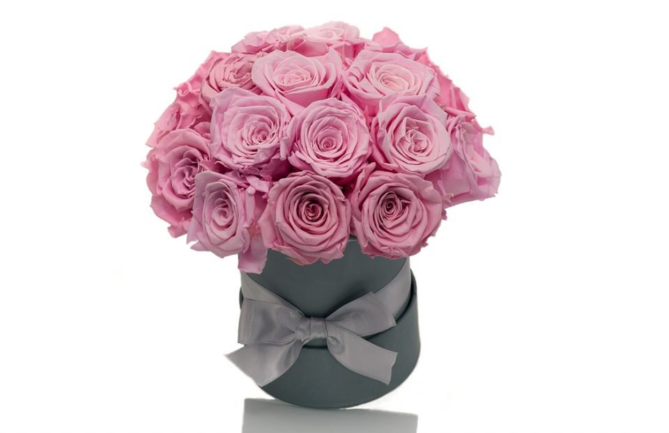 Infinity pink roses Hat Box