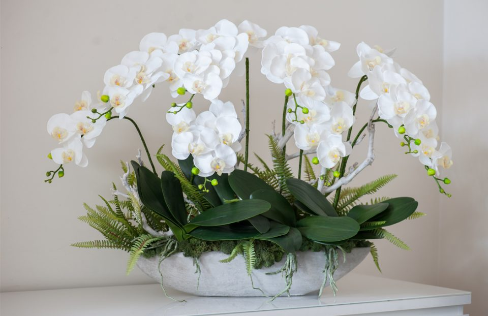 Luxury faux orchid arrangement