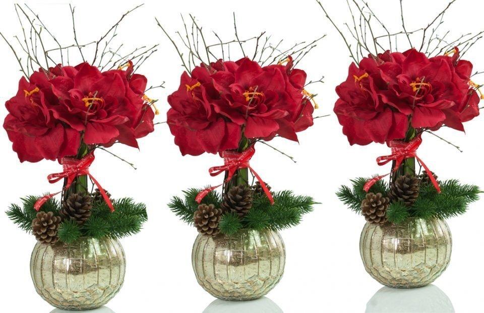 Winter Silk Amaryllis Arrangement