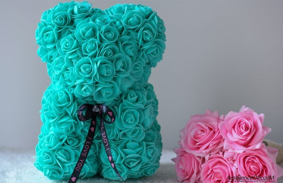 Flower bear turquoise