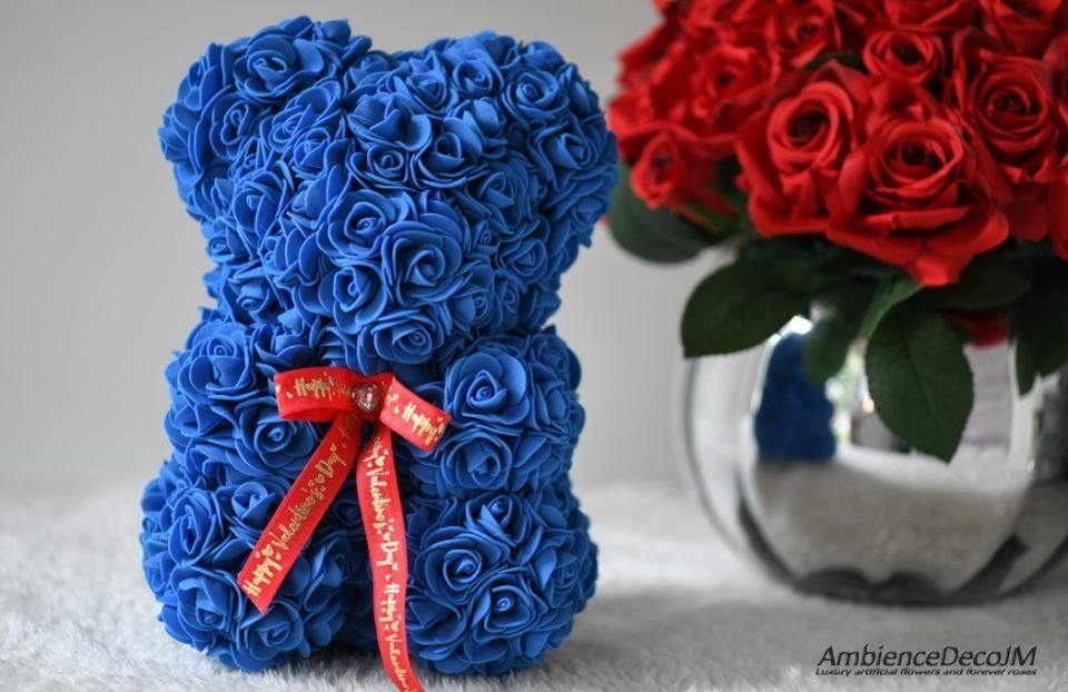 flower bear blue