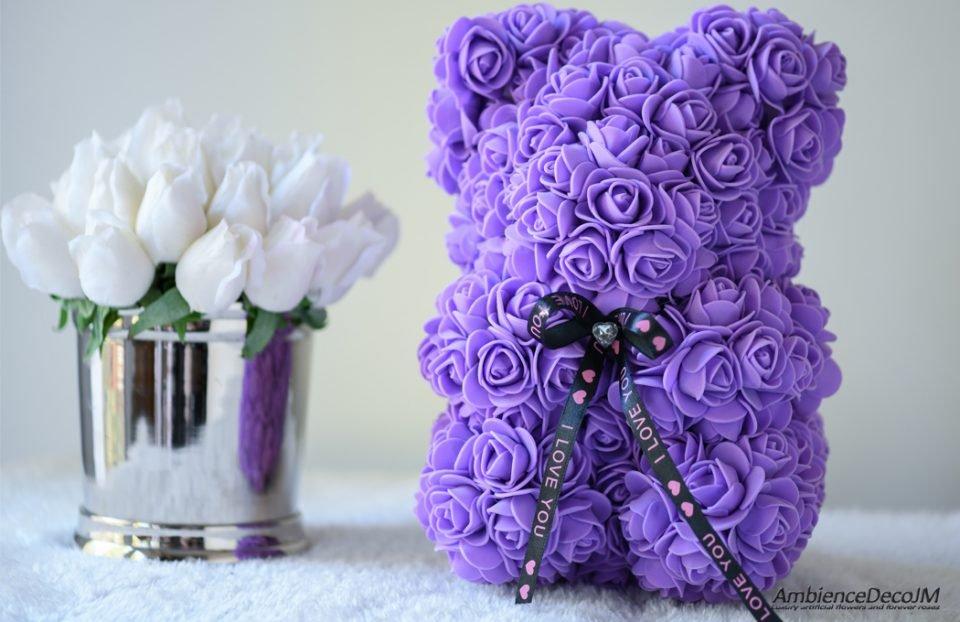flower bear purple