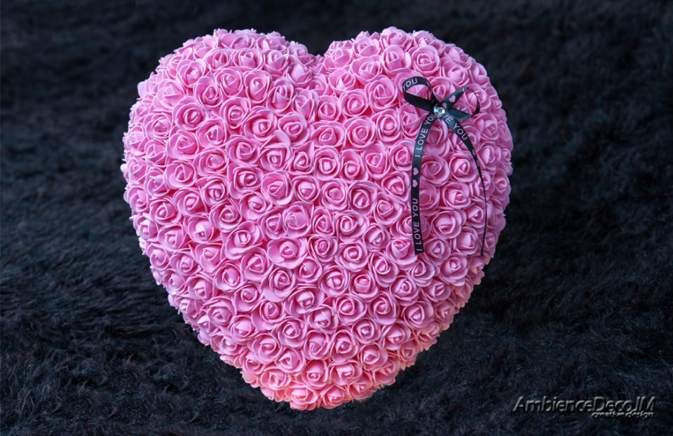 Rose Heart pink