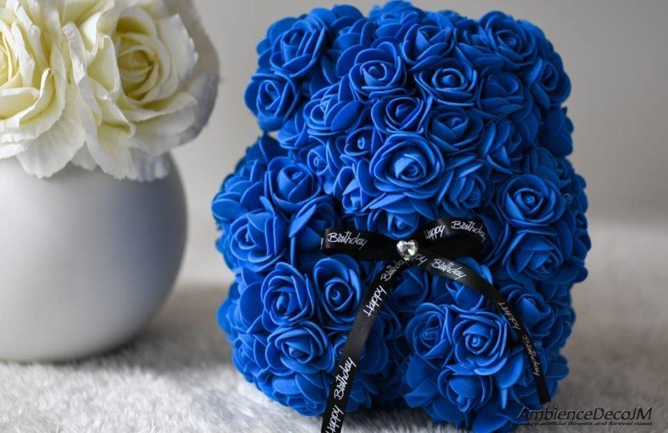 flower bear small blue