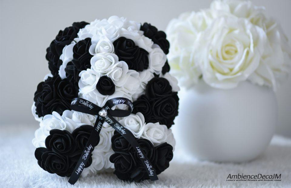 Small panda flower bear