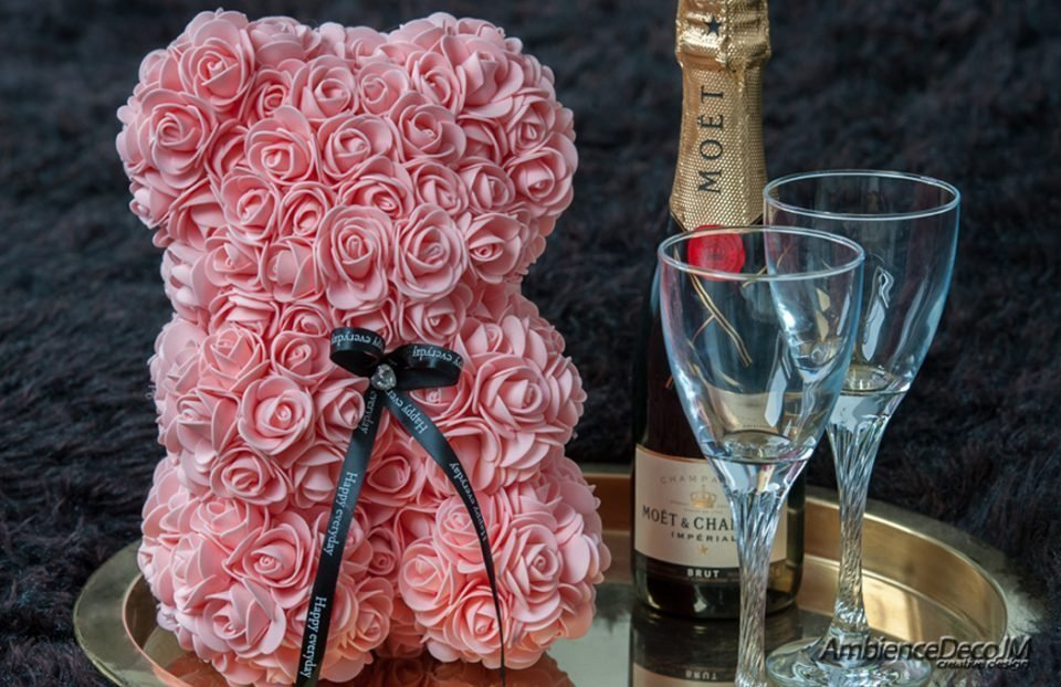 Rose Teddy Bear Peach