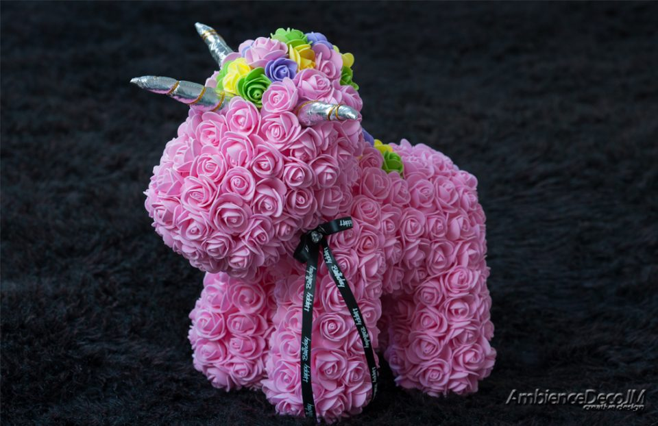 rose unicorn pink