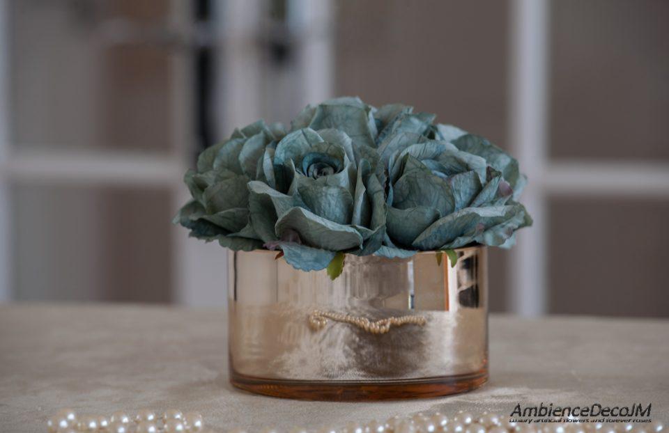 silk tiffany blue roses
