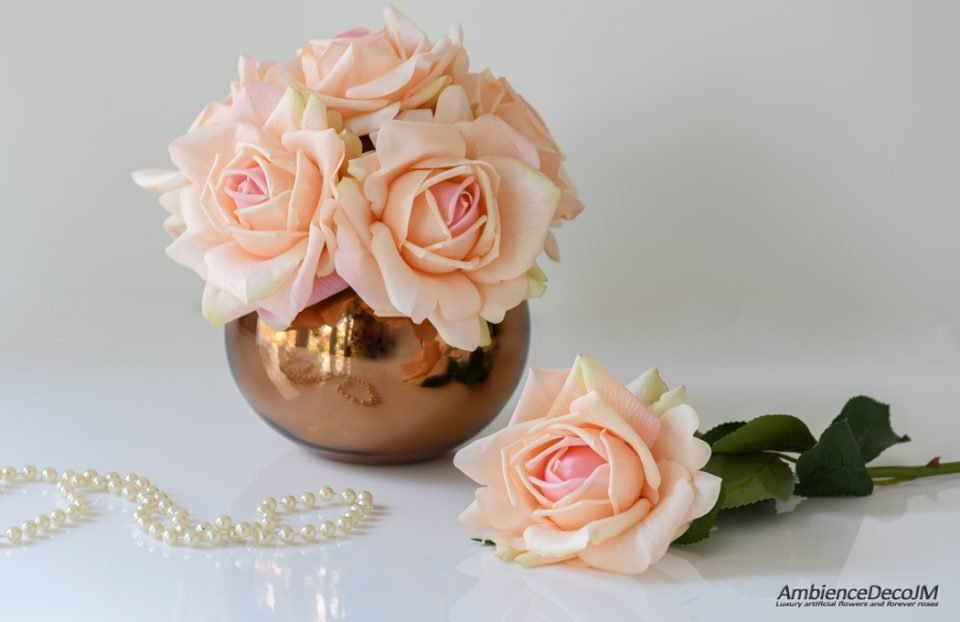 Real touch rose arrangement