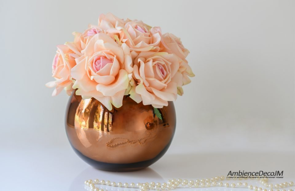 Real touch rose centerpiece