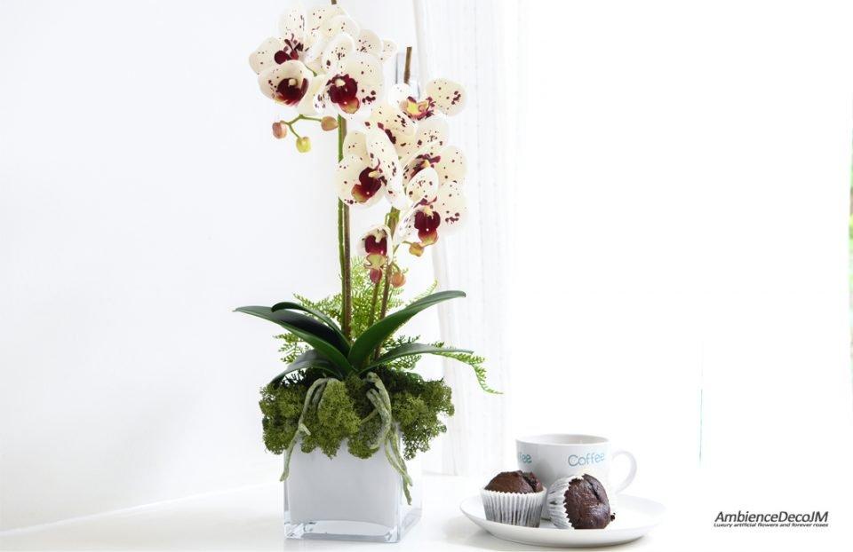 Artificial orchid centerpiece