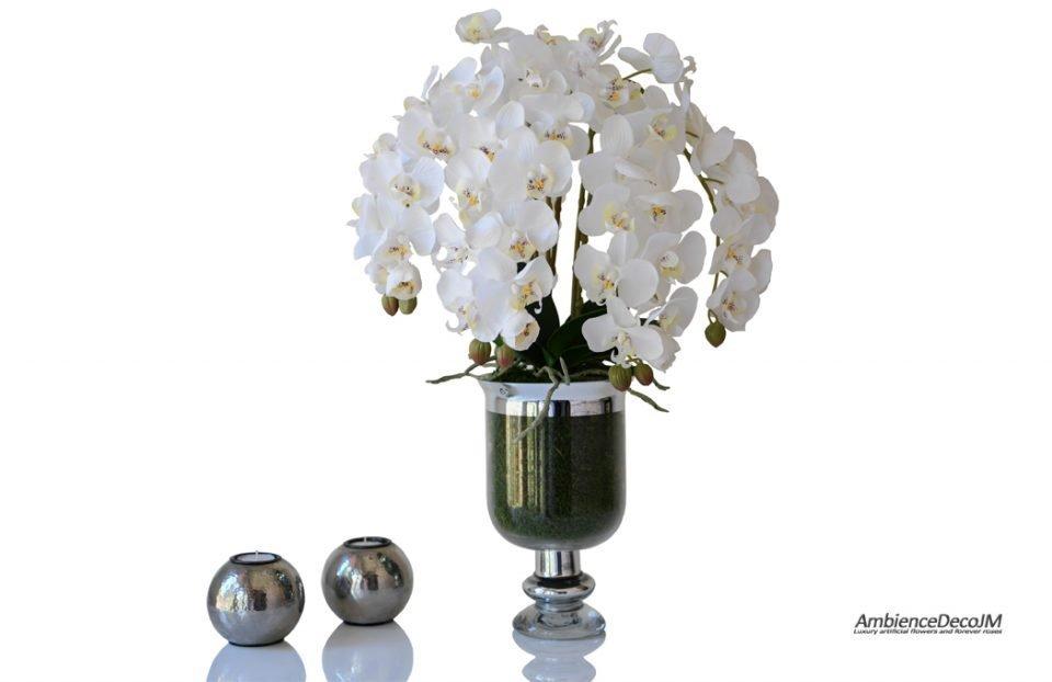 Lifelike orchid centerpiece