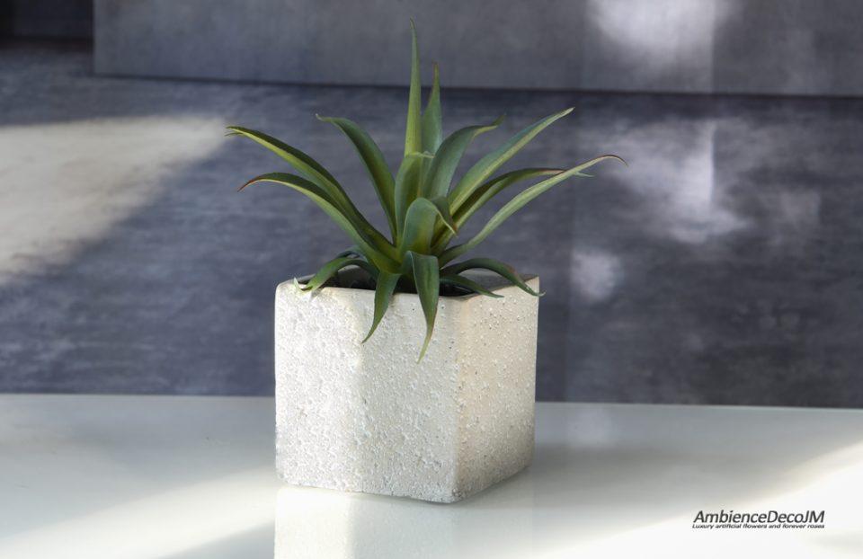 Faux cactus in a pot