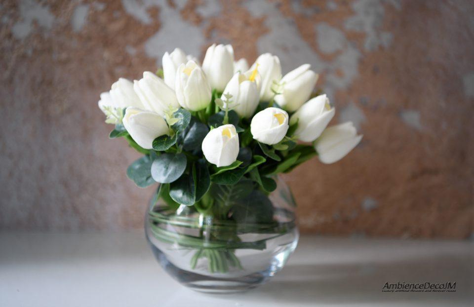 Faux tulip arrangement